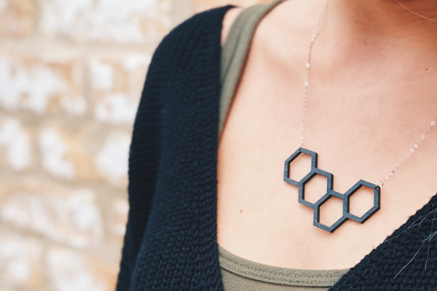 tiny lumber necklace jewelry geometric