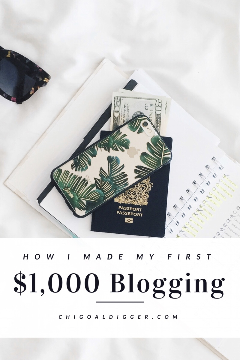 How I Made My First $1,000 Blogging