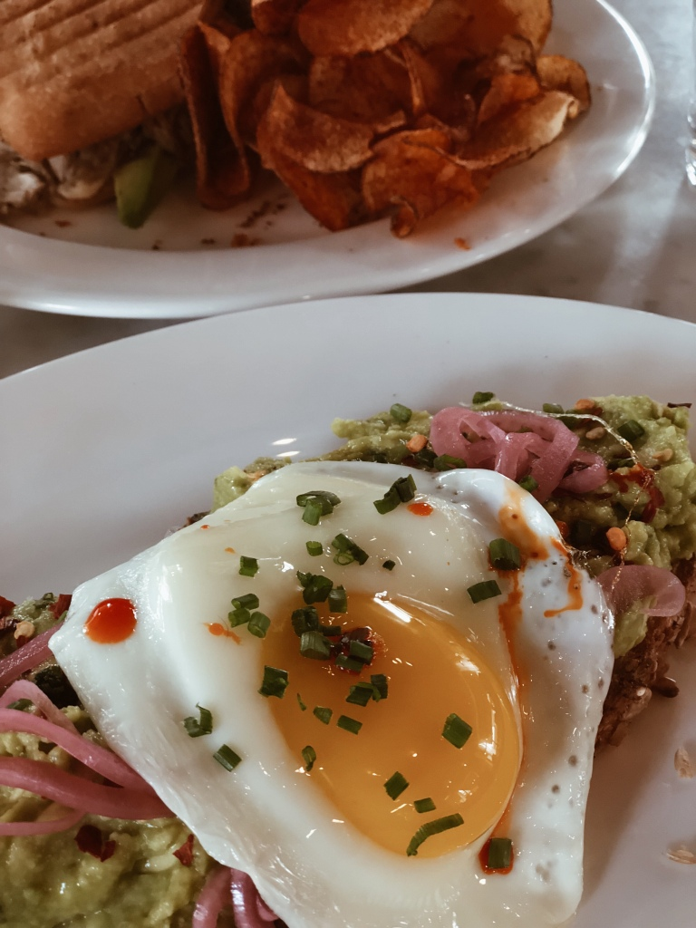 avocado toast and Cuban sandwich at cafe robey in downtown chicago