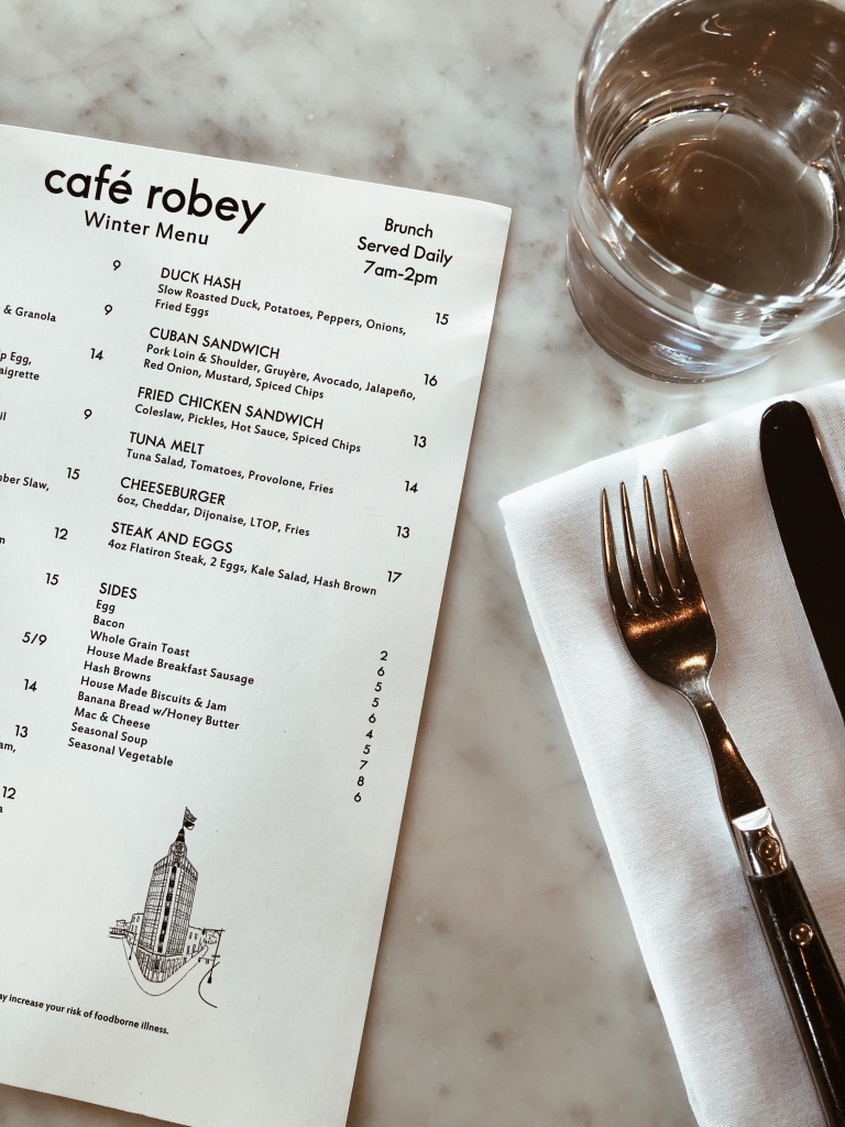 cafe robey in downtown chicago menu