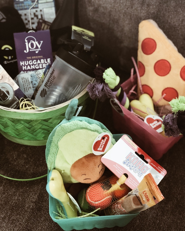 Whats in our easter baskets 2018 the natalie lynn my husbands basket included a blender bottle huggable hangers for his work ties an air freshener for his new car a 10 pack of new socks essentials ya negle Image collections